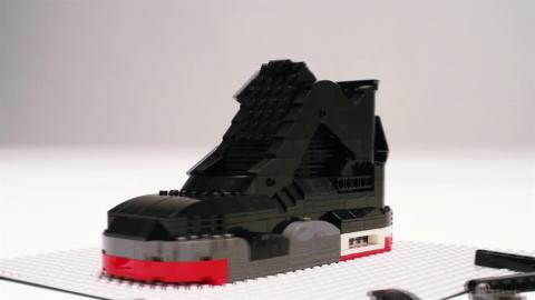 Air Jordan IV sneakers built entirely of LEGO's: Fan Made