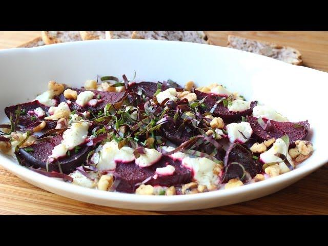 Roasted Beets with Goat Cheese and Walnuts - Easy Roast Beets Recipe