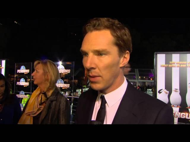 "Penguins of Madagascar: Benedict Cumberbatch ""Agent Classified"" Movie Premiere Interview"