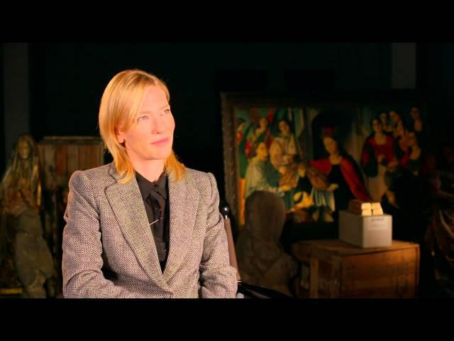 "The Monuments Men: Cate Blanchett ""Claire Simone"" On Set Interview"