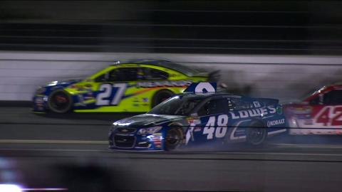 Jimmie Johnson Slides Through Grass - Sprint Unlimited - 2016 NASCAR Sprint Cup