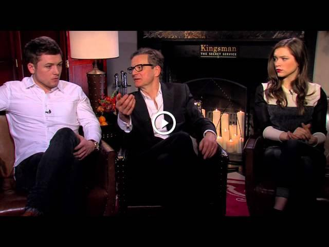 Exclusive Colin Firth Taron Egerton And Sophie Cookson: Kingsman: The Secret Service: Colin Firth, Taron Egerton