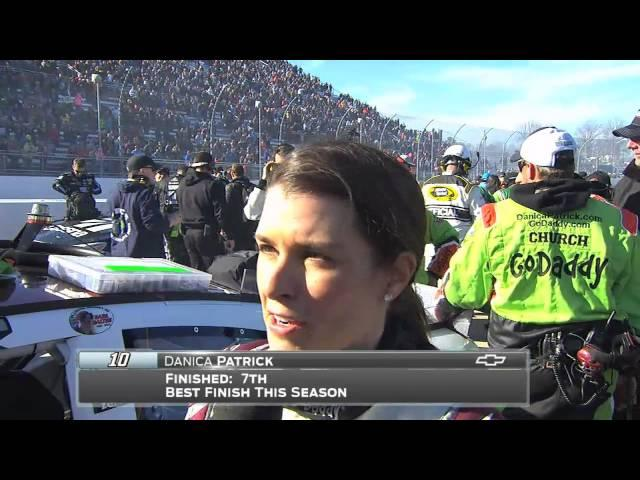 Danica Patrick Gets First Top 10 of Season at Martinsville - 2015 NASCAR Sprint Cup