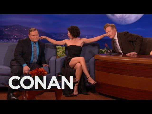 Evangeline Lilly's Ear Fetish  - CONAN on TBS
